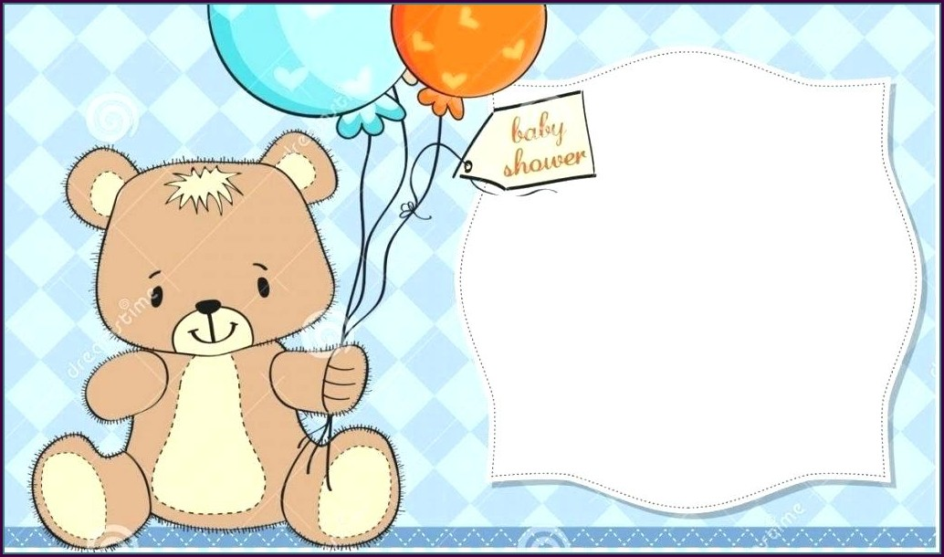 Blank Teddy Bear Invitation Template