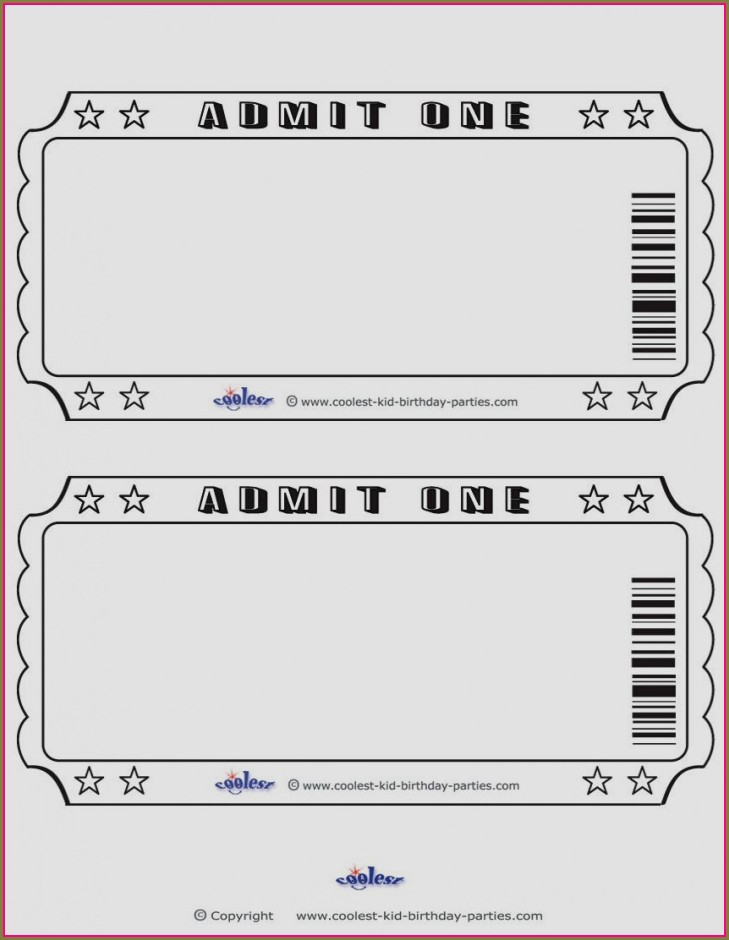 Blank Template Free Golden Ticket