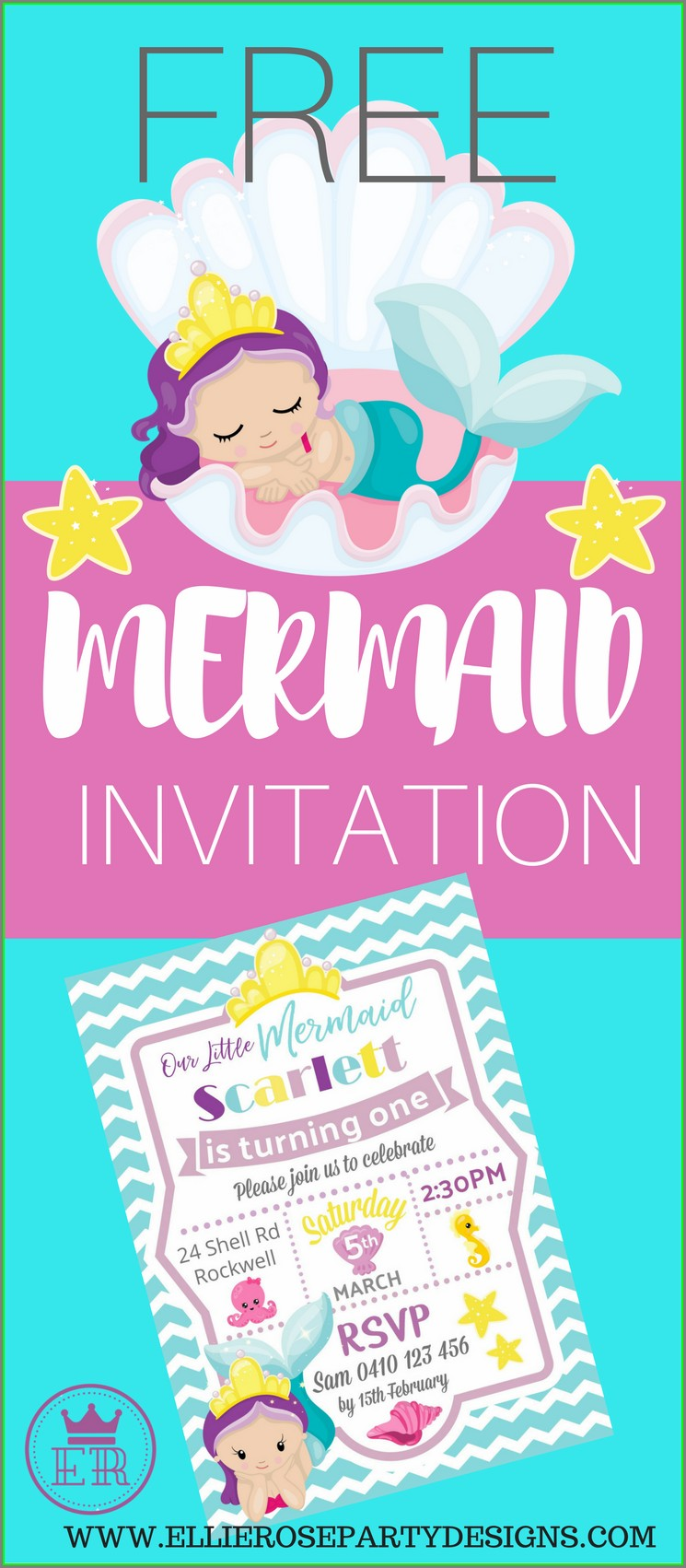 Blank Under The Sea Invitation Template Free