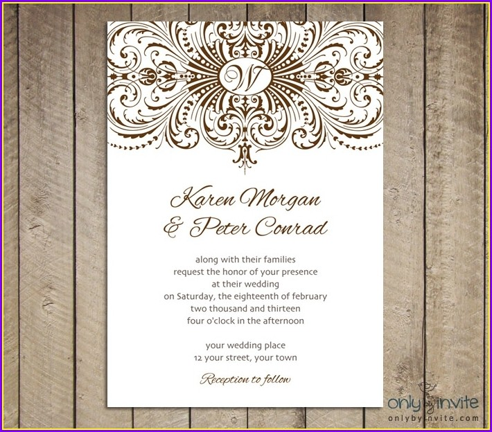 Blank Vintage Invitation Templates