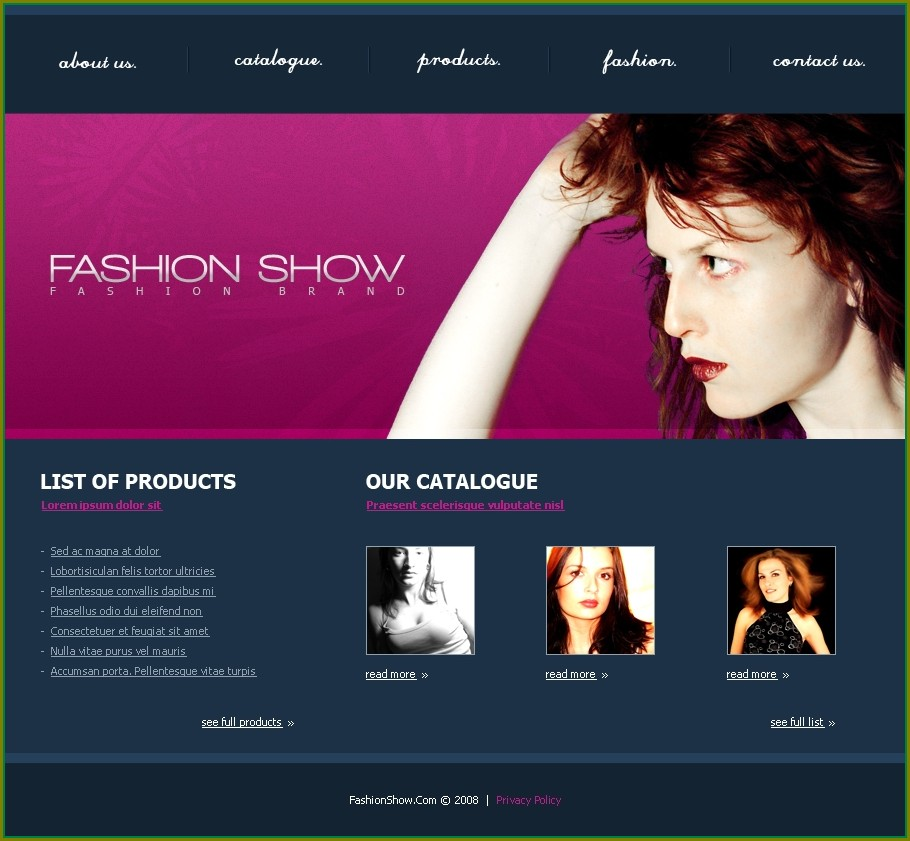 Boutique Website Templates Free Download