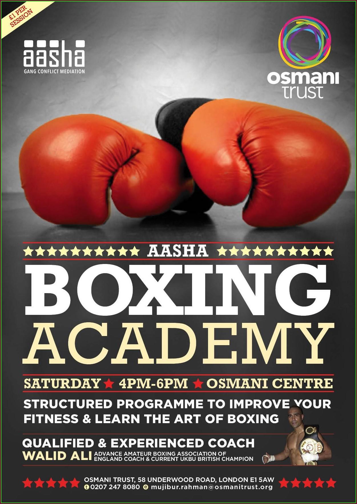 Boxing Invitations Templates