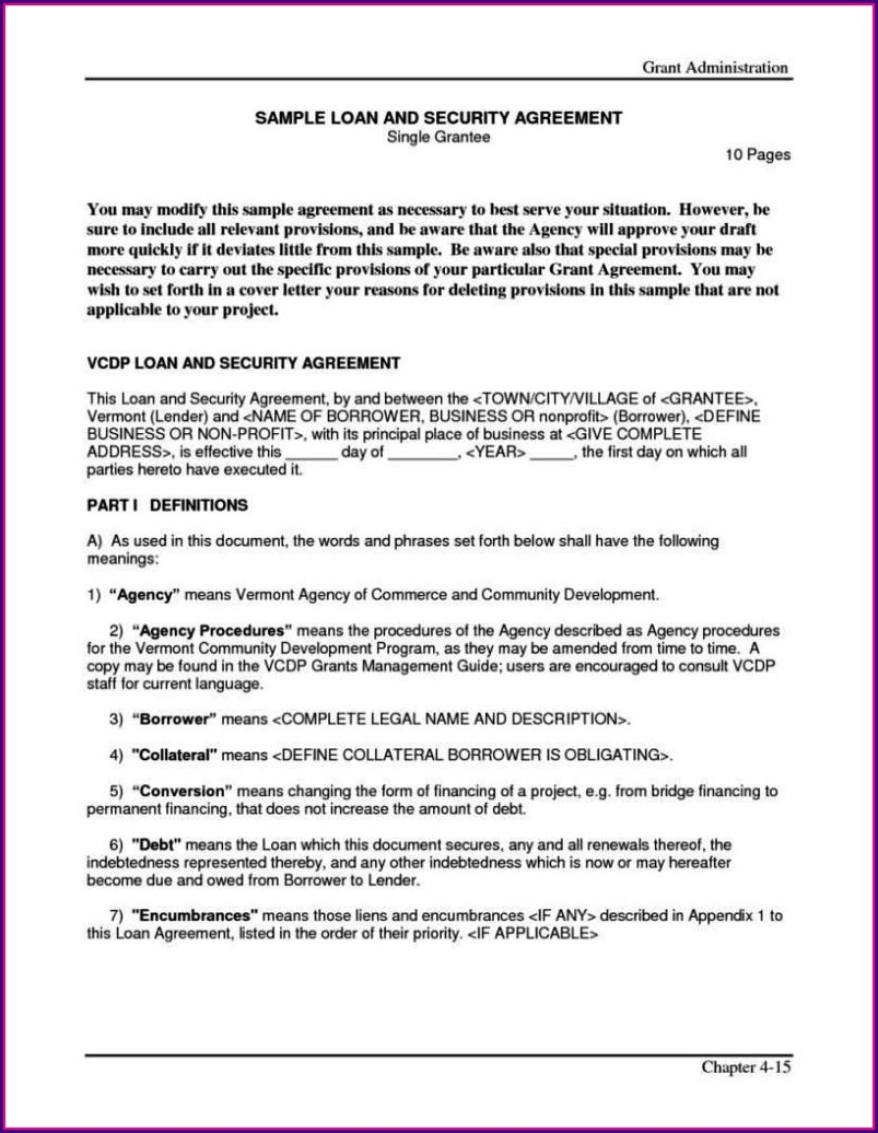 Bridge Loan Agreement Template