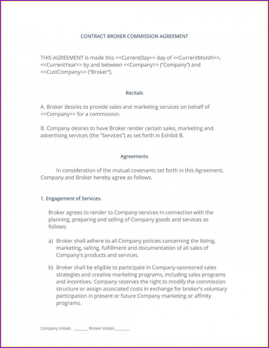 Broker Agreement Template Free