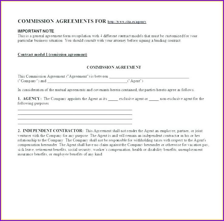 Broker Agreement Template Uk