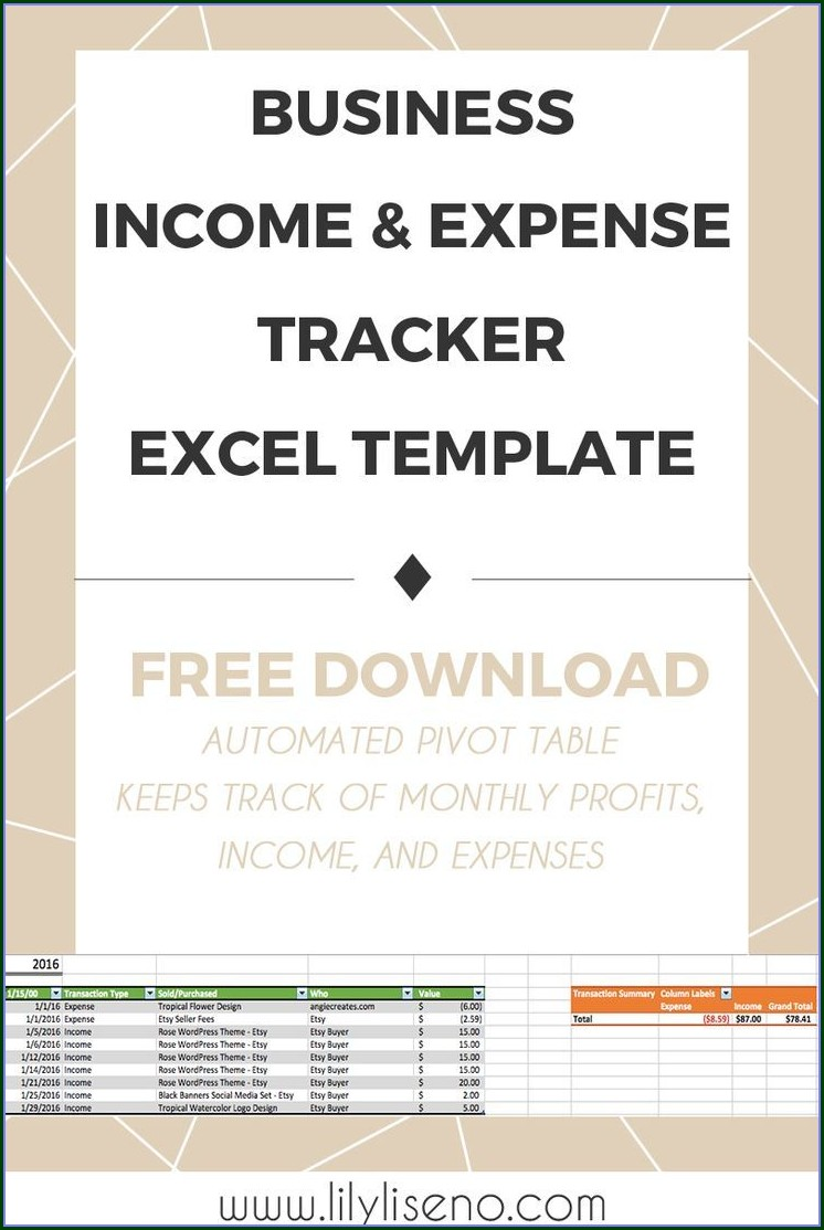 Business Expense Template Excel Free