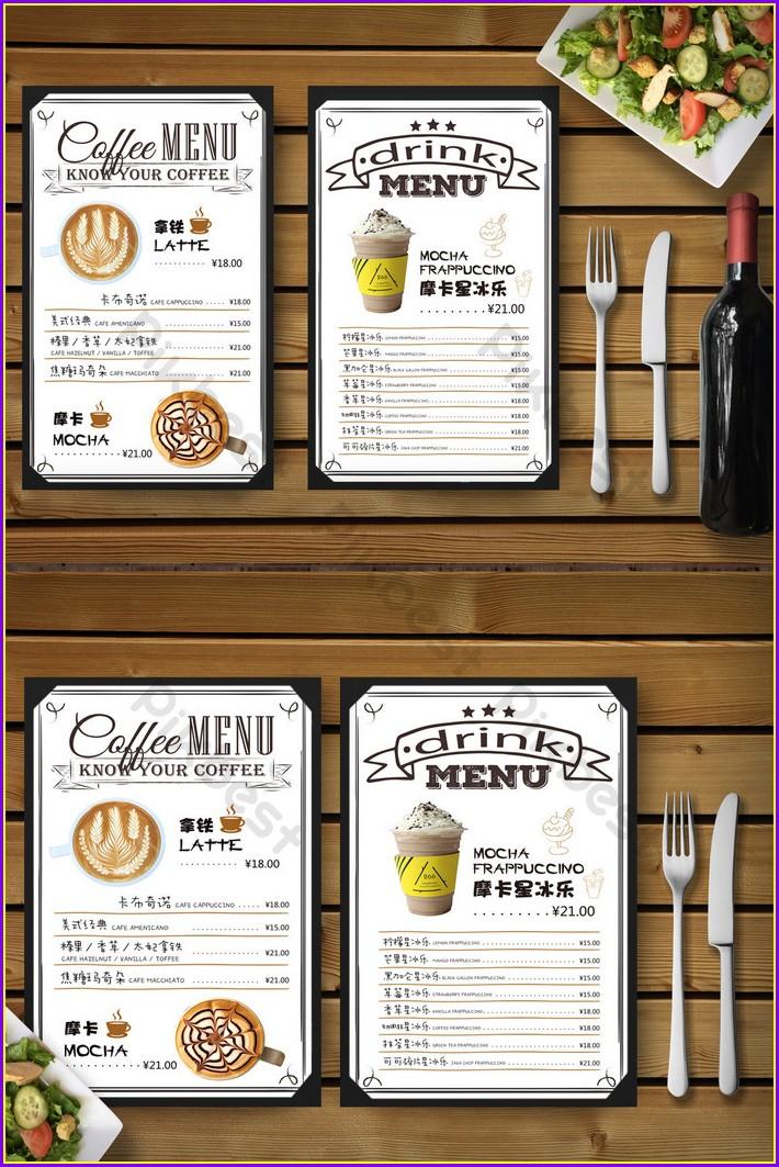 Cafe Menu Template Free Download