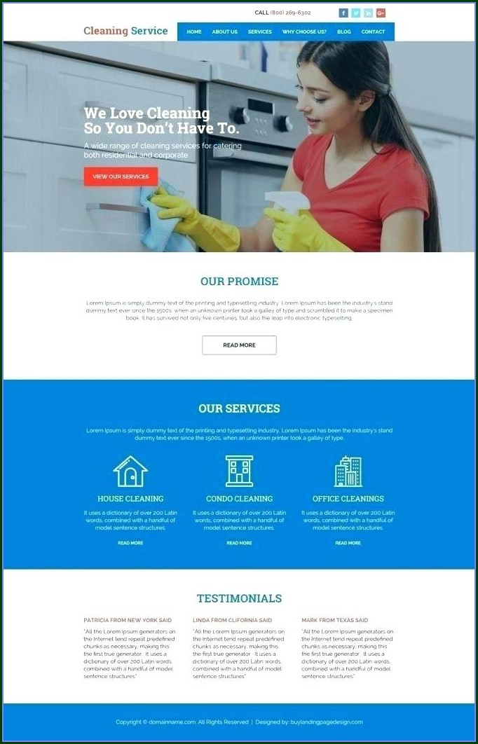 Carpet Cleaning Website Template Wordpress