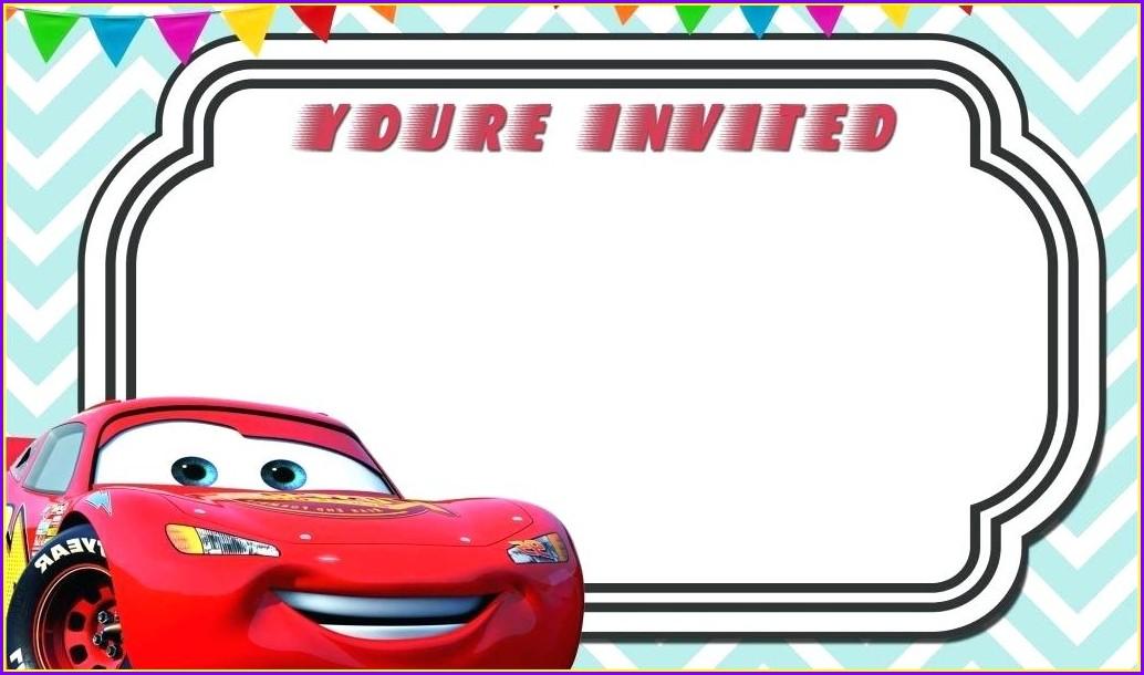 Cars Birthday Invitation Template Free Download