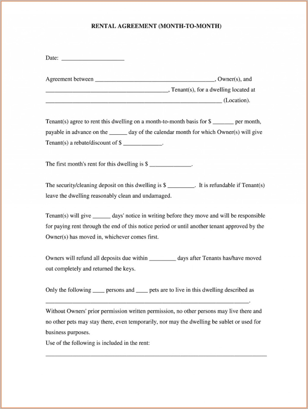 Cash Farm Lease Template
