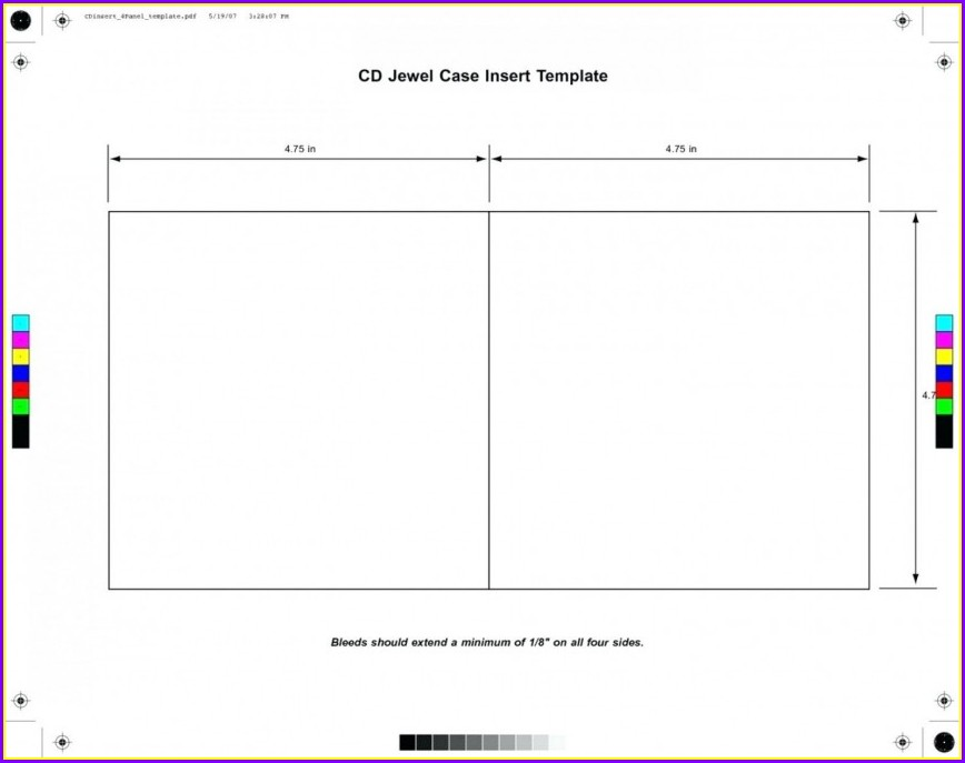 Cd Jewel Case Insert Template
