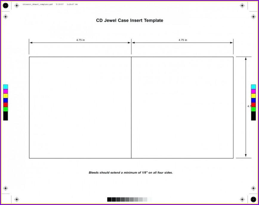 Cd Jewel Case Insert Template