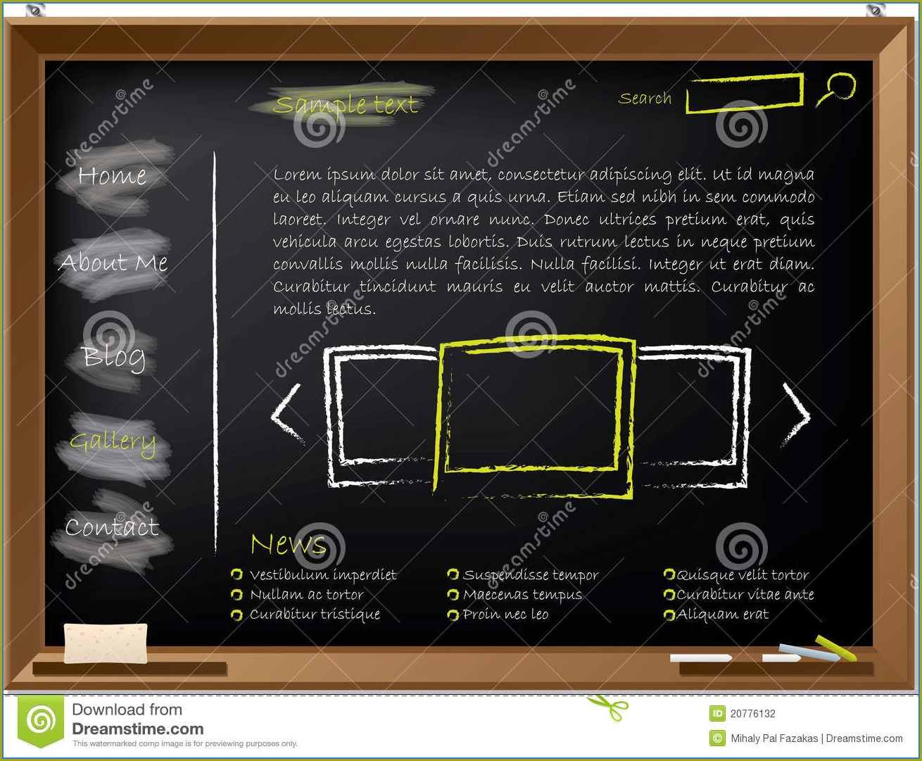 Chalkboard Website Template