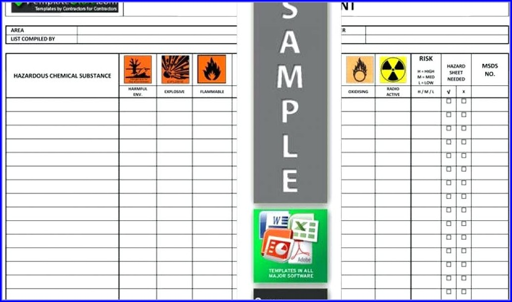 Chemical Inventory Template Excel