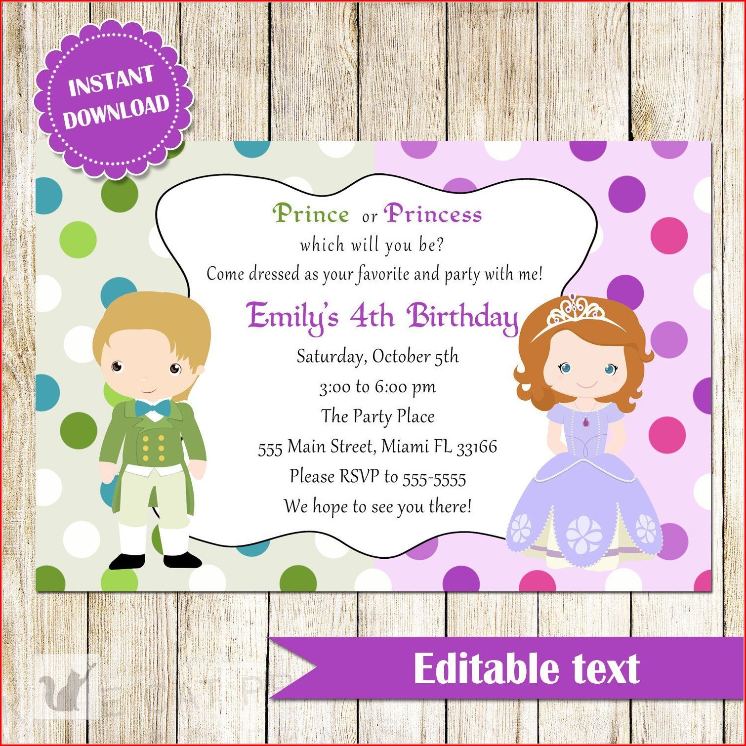 Children's Invitation Templates Free