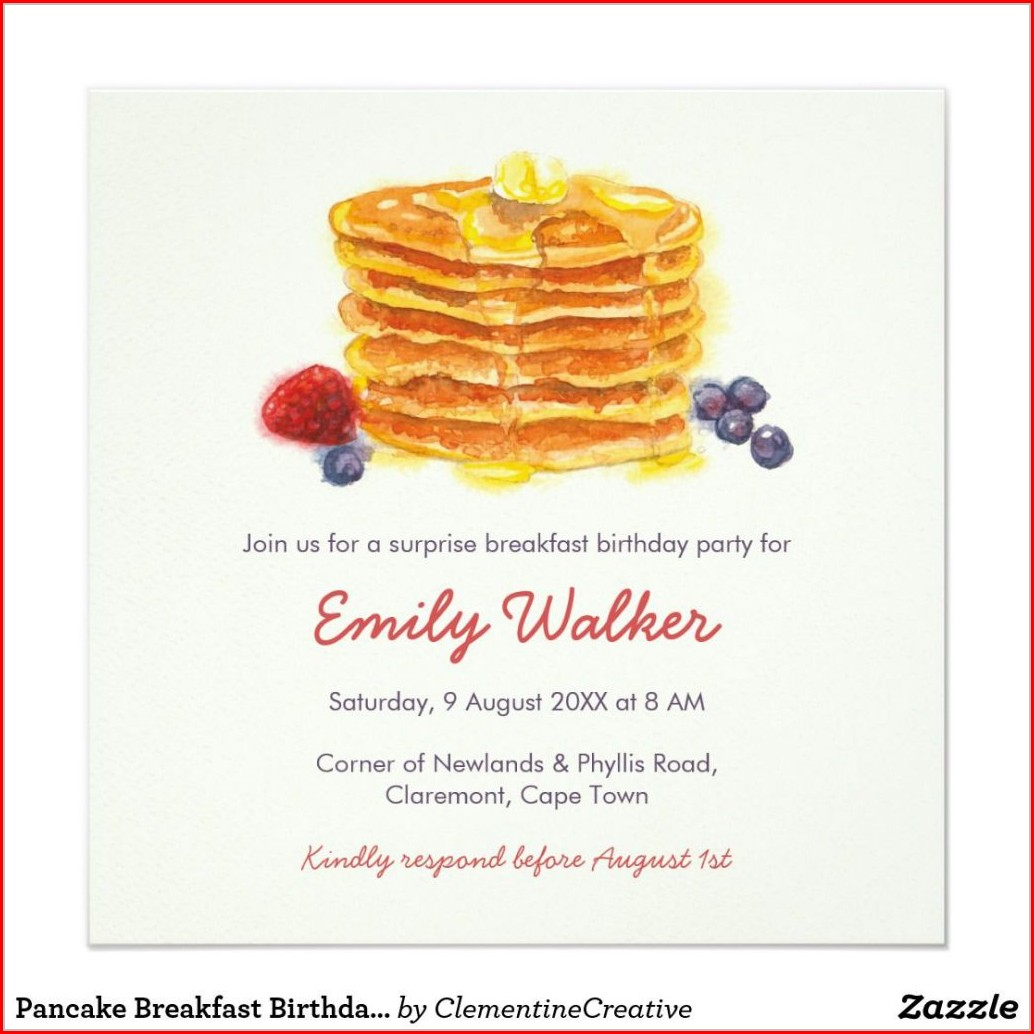 Christmas Breakfast Invitation Template Free