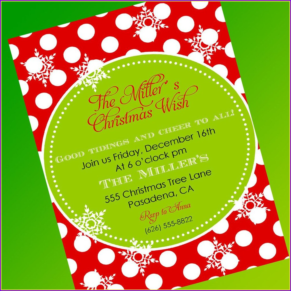 Christmas Invitation Template Microsoft Word