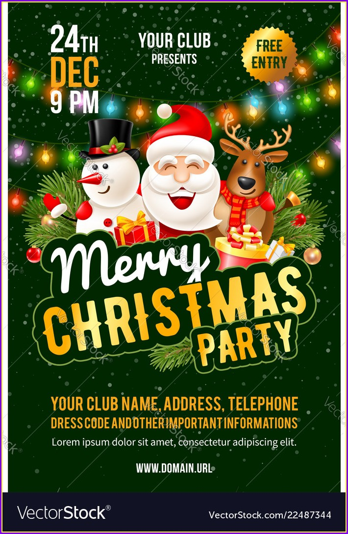 Christmas Party Announcement Template