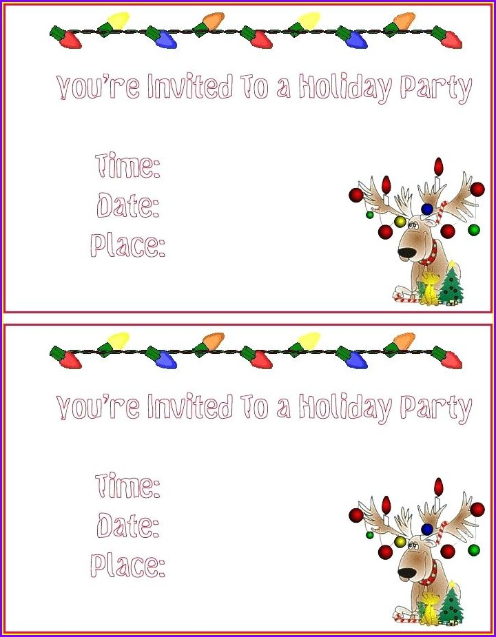 Christmas Party Invites Templates Free
