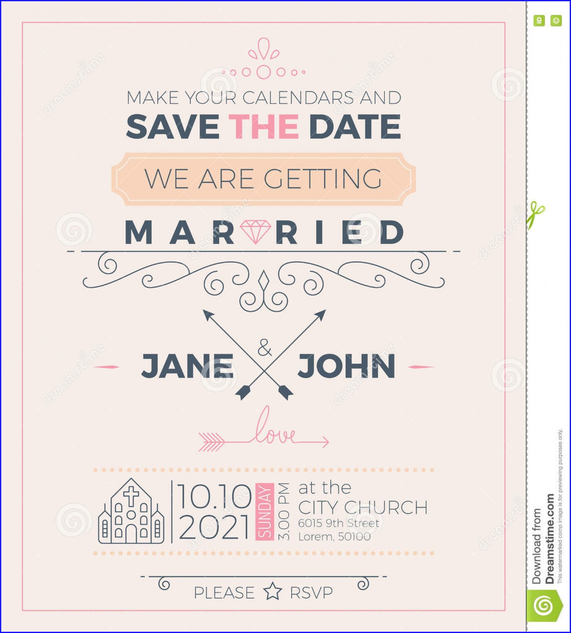 Church Invitation Cards Templates