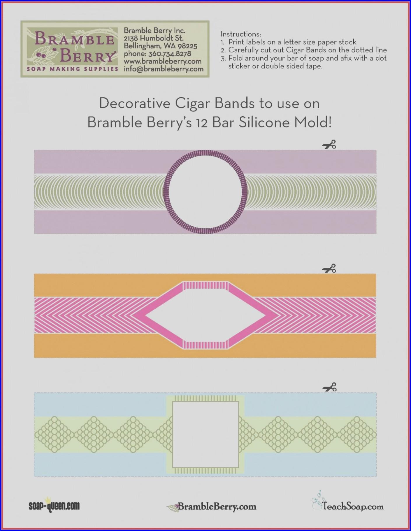 Cigar Band Template Free
