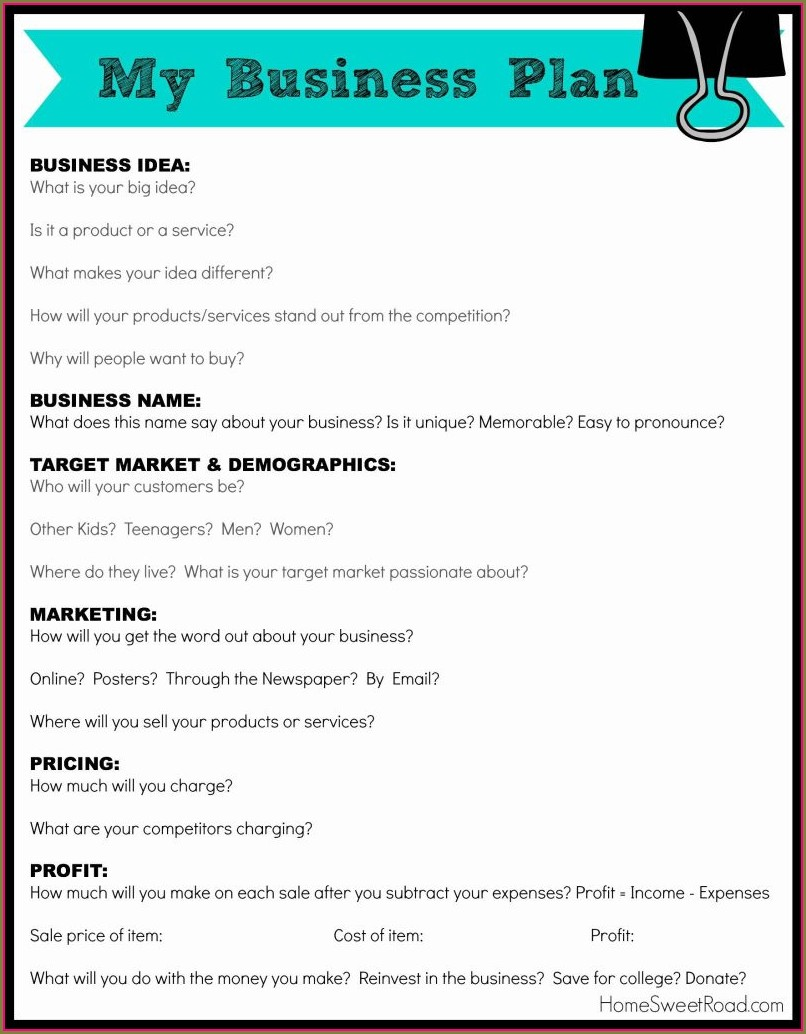 Clothing Store Clothing Business Plan Template