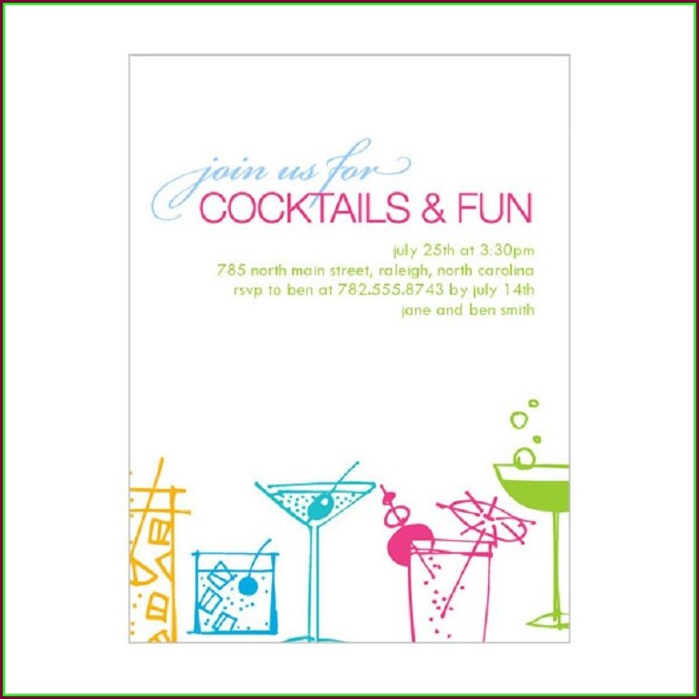 Cocktail Party Invitation Templates Free