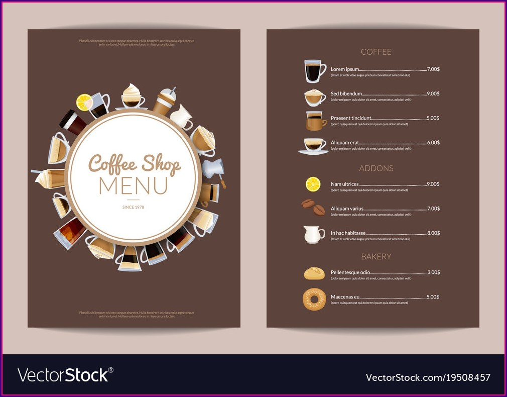 Coffee Shop Menu Template Free Download