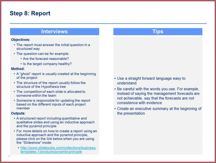 Commercial Due Diligence Report Template