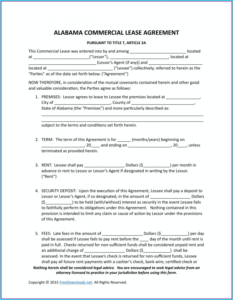 Commercial Property Lease Agreement Template