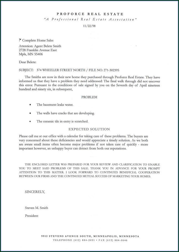 Commercial Real Estate Prospecting Letter Template