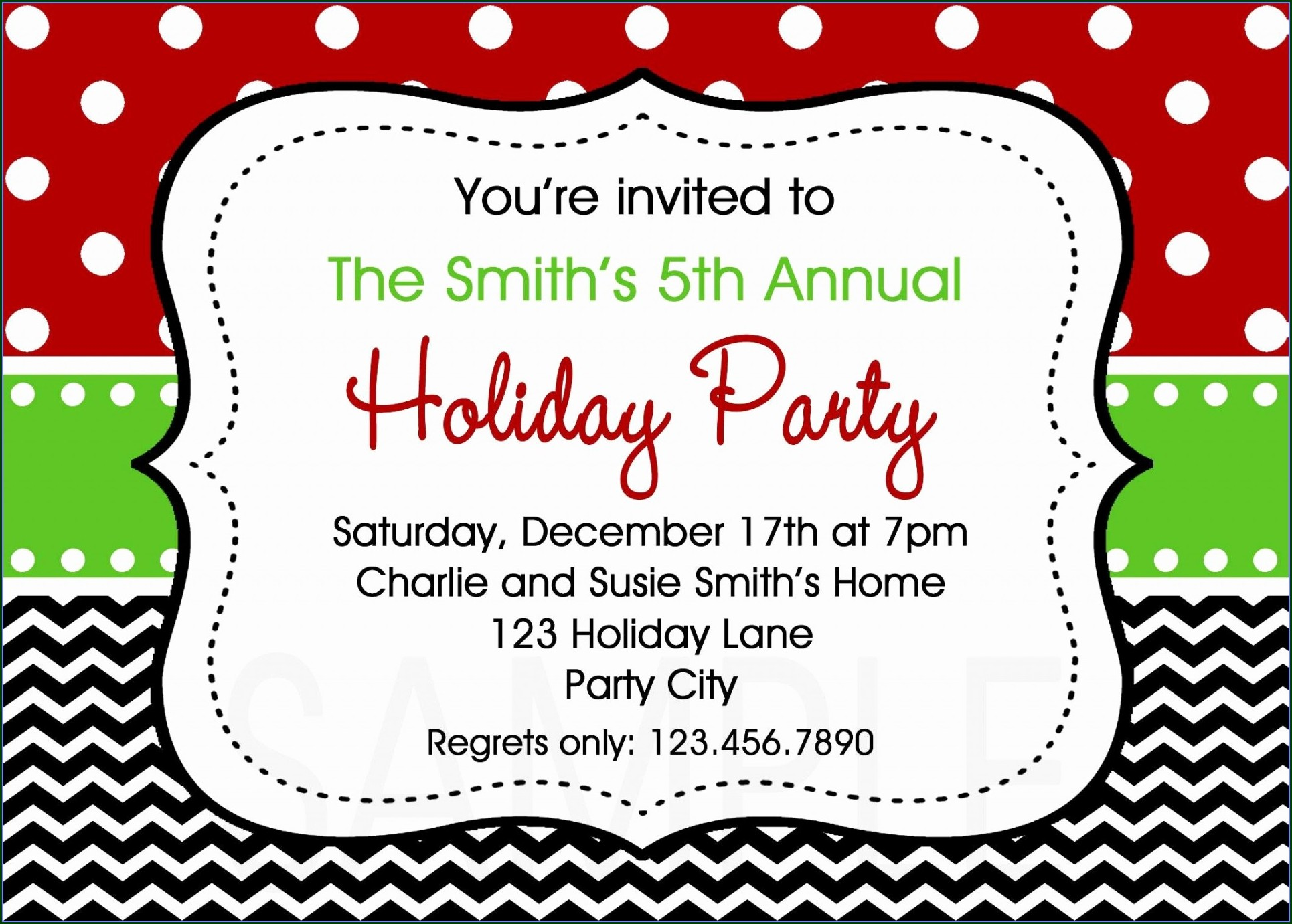 Company Holiday Party Invitation Template