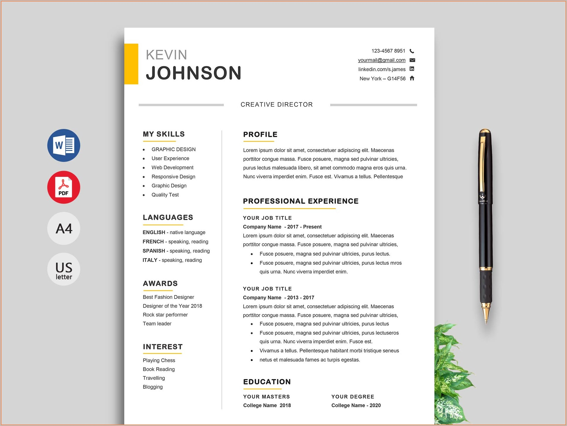 Completely Free Resume Templates 2019