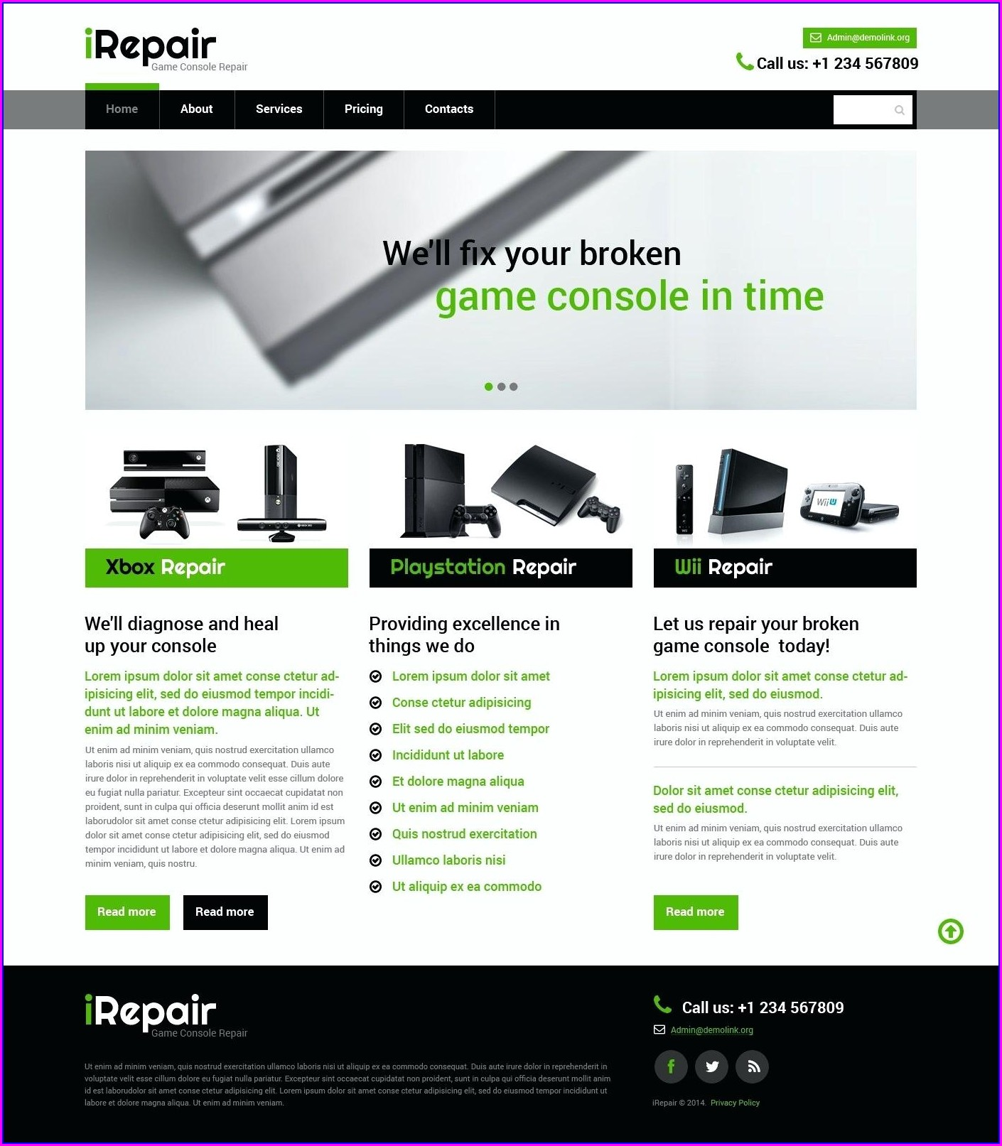 Computer Repair Website Templates Free Download