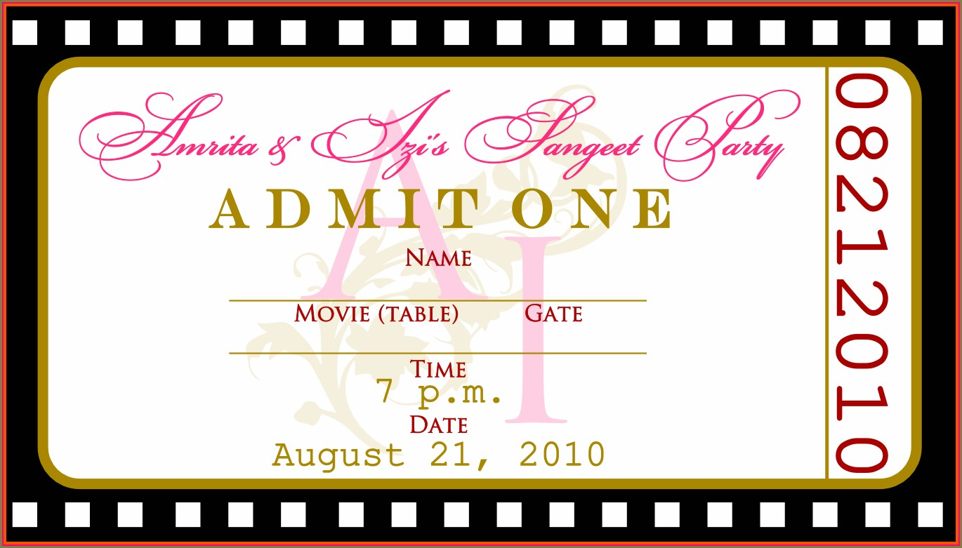 Concert Invitation Template Free