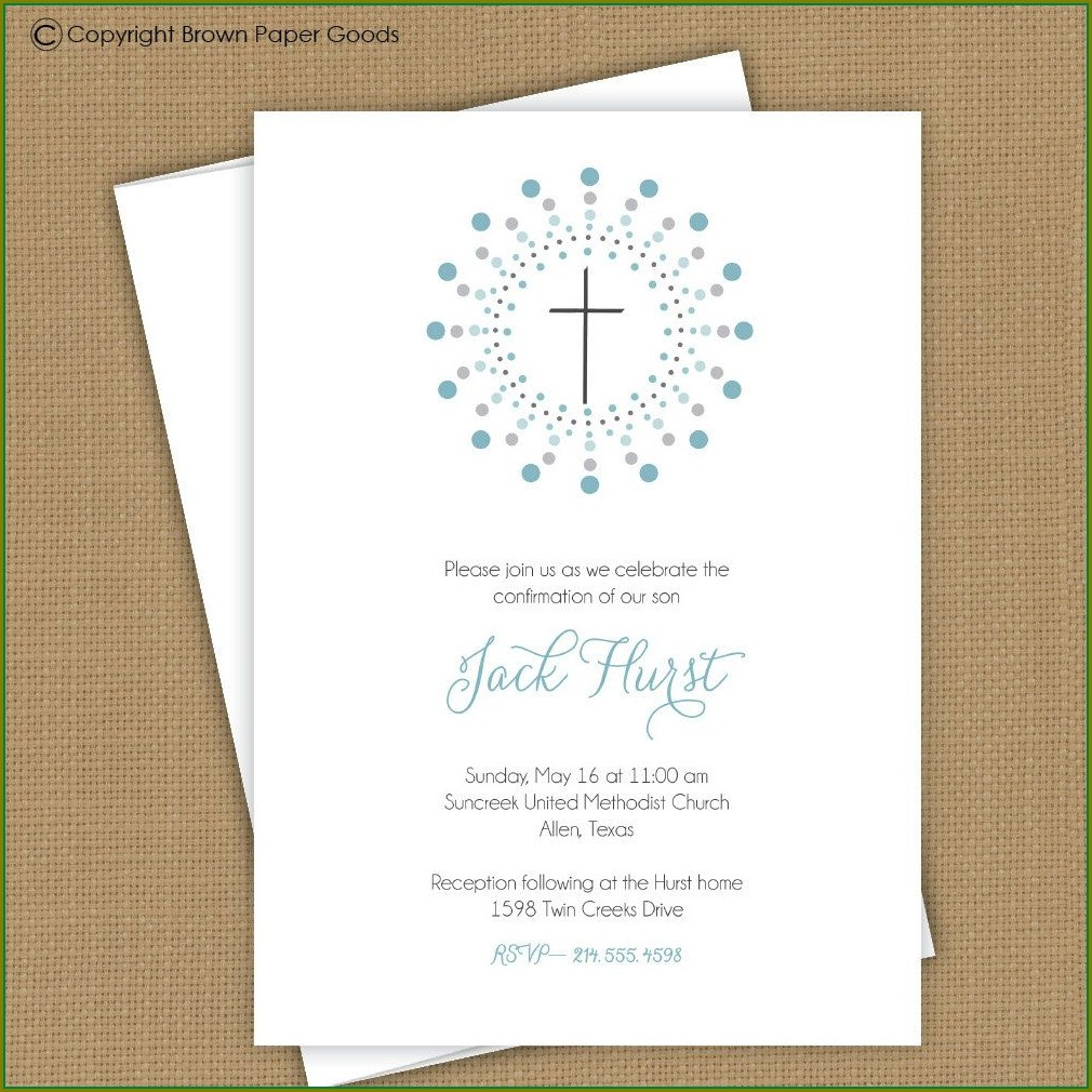 Confirmation Ceremony Confirmation Invitation Template Word