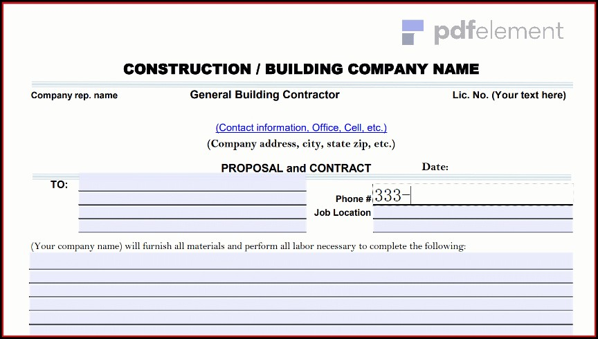 Construction Proposal Template Free Download (180)