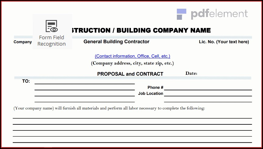 Construction Proposal Template Free Download (3)
