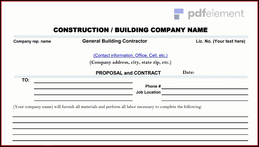 Construction Proposal Template Free Download (75)