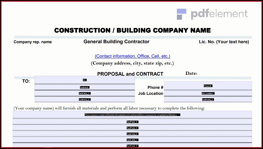 Construction Proposal Template Free Download (80)