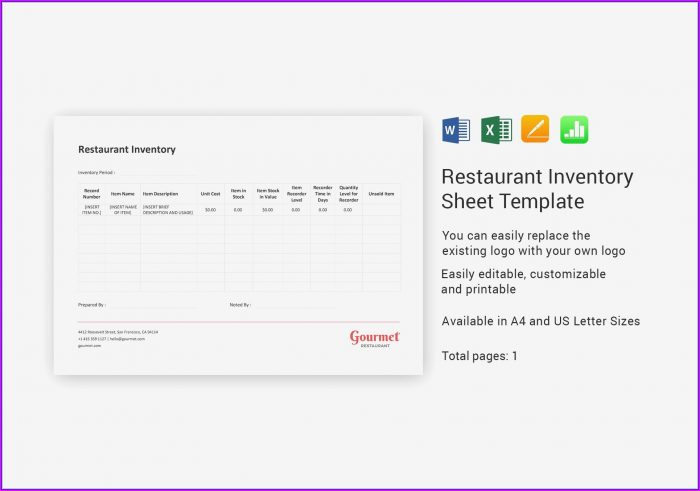 Cookbook Pages Template