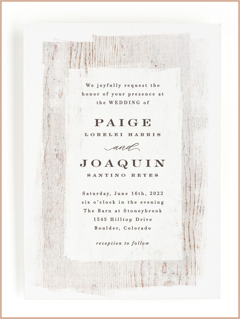 Country Style Wedding Invitation Templates