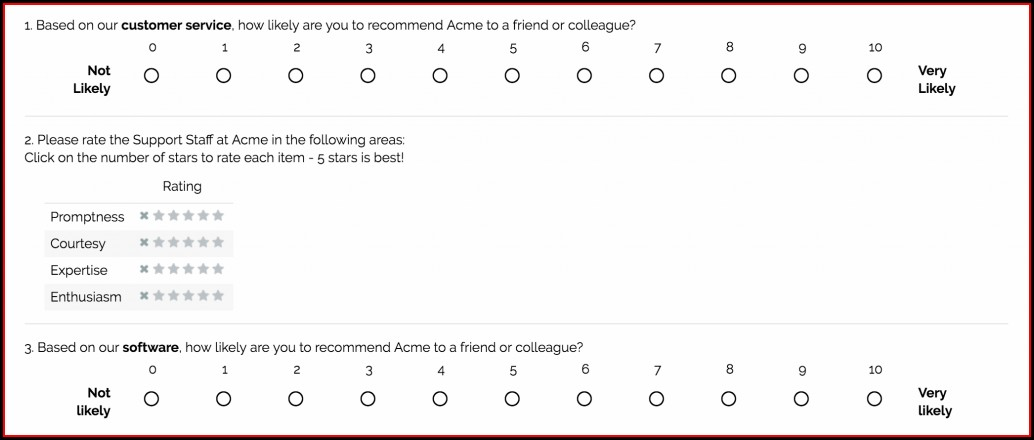 Customer Service Survey Templates