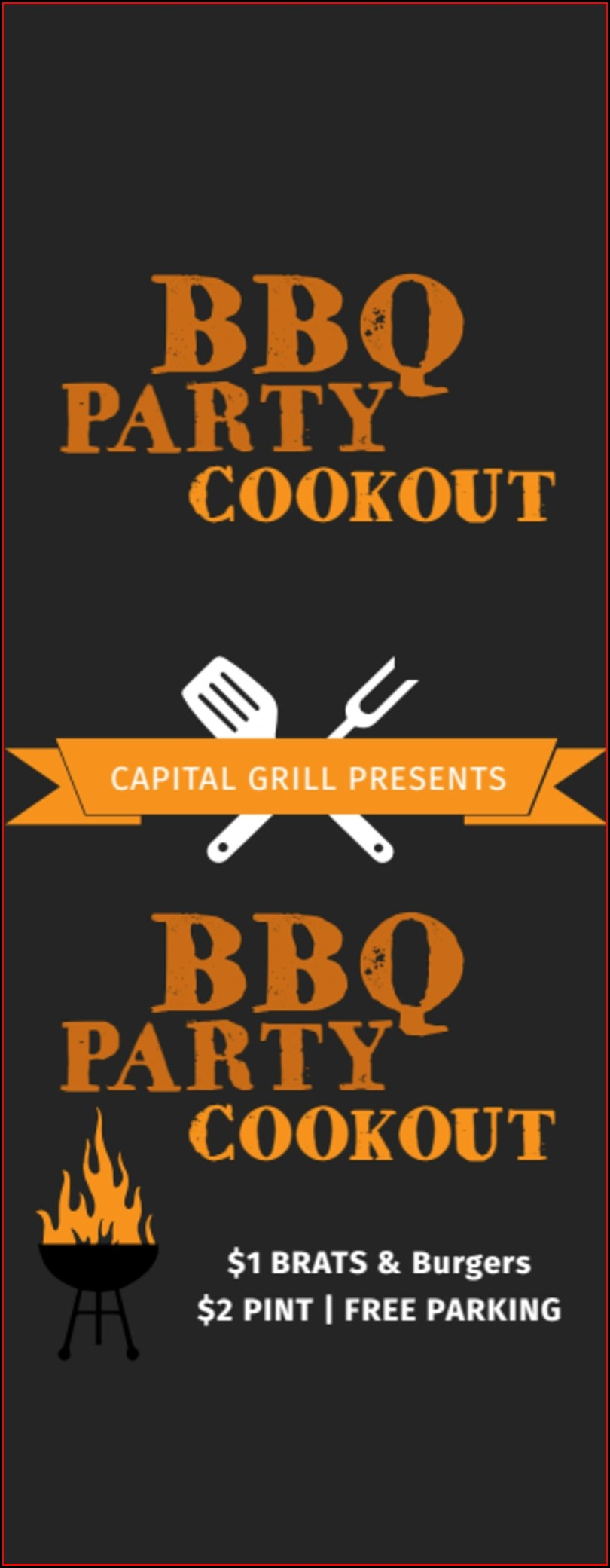 Customizable Bbq Ticket Template