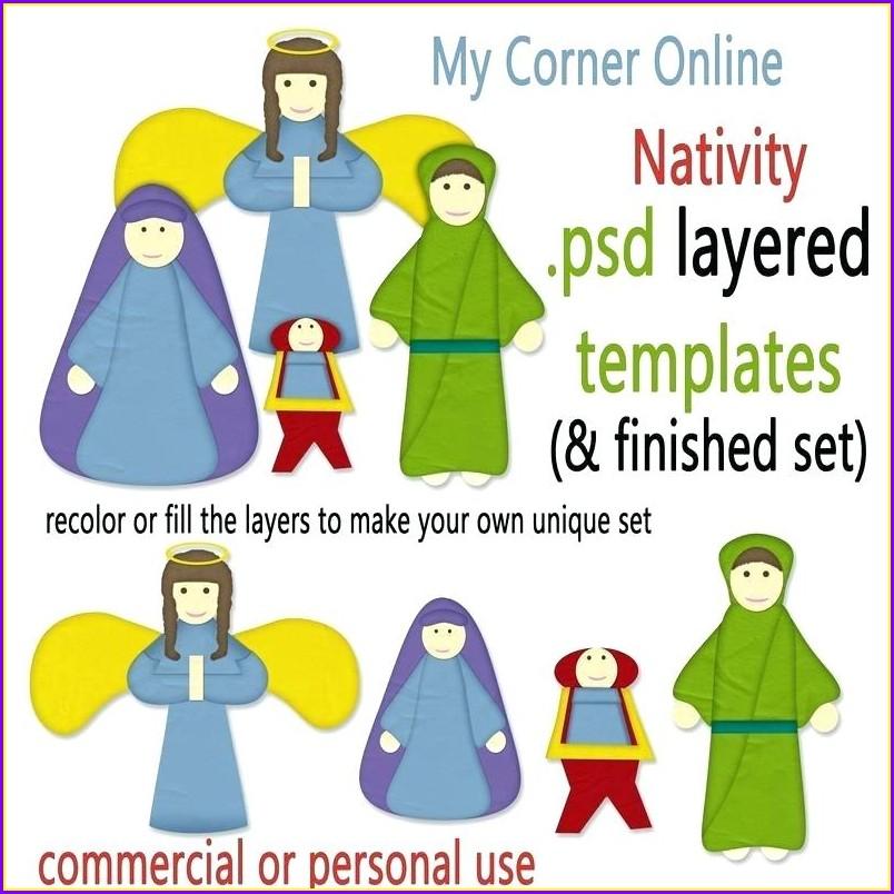 Cut Out Nativity Scene Template