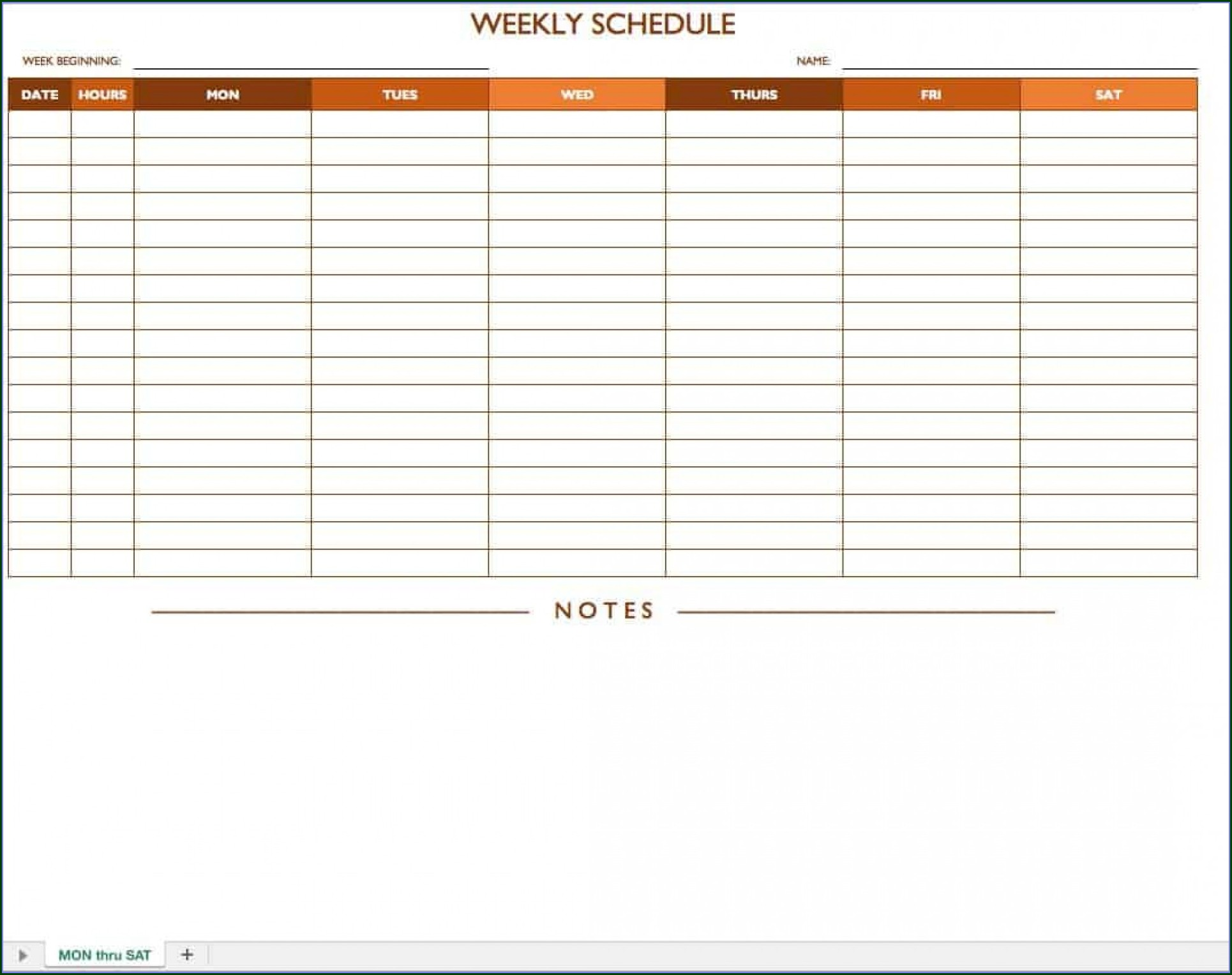 Daily Appointment Schedule Template