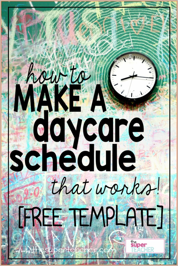 Daycare Schedule Template Free