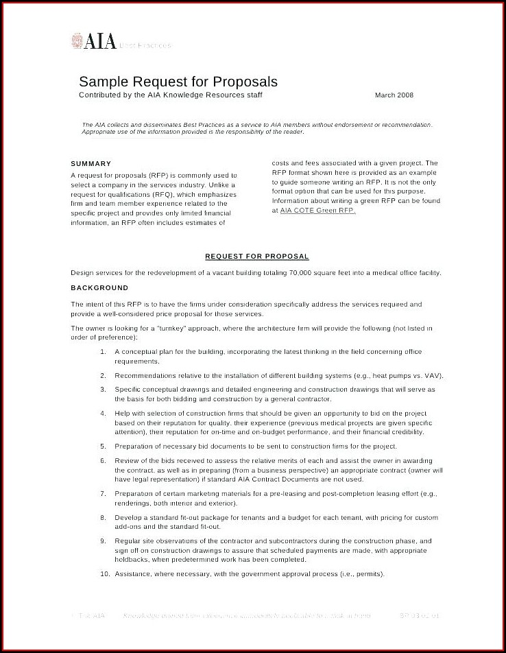 Digital Marketing Rfp Template