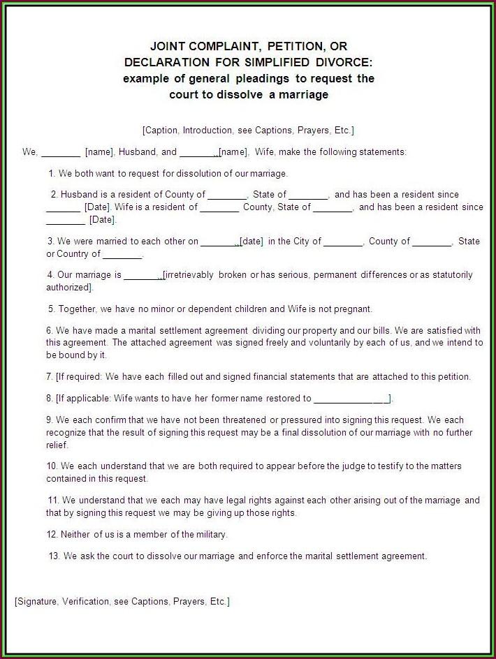Divorce Decree Template South Africa