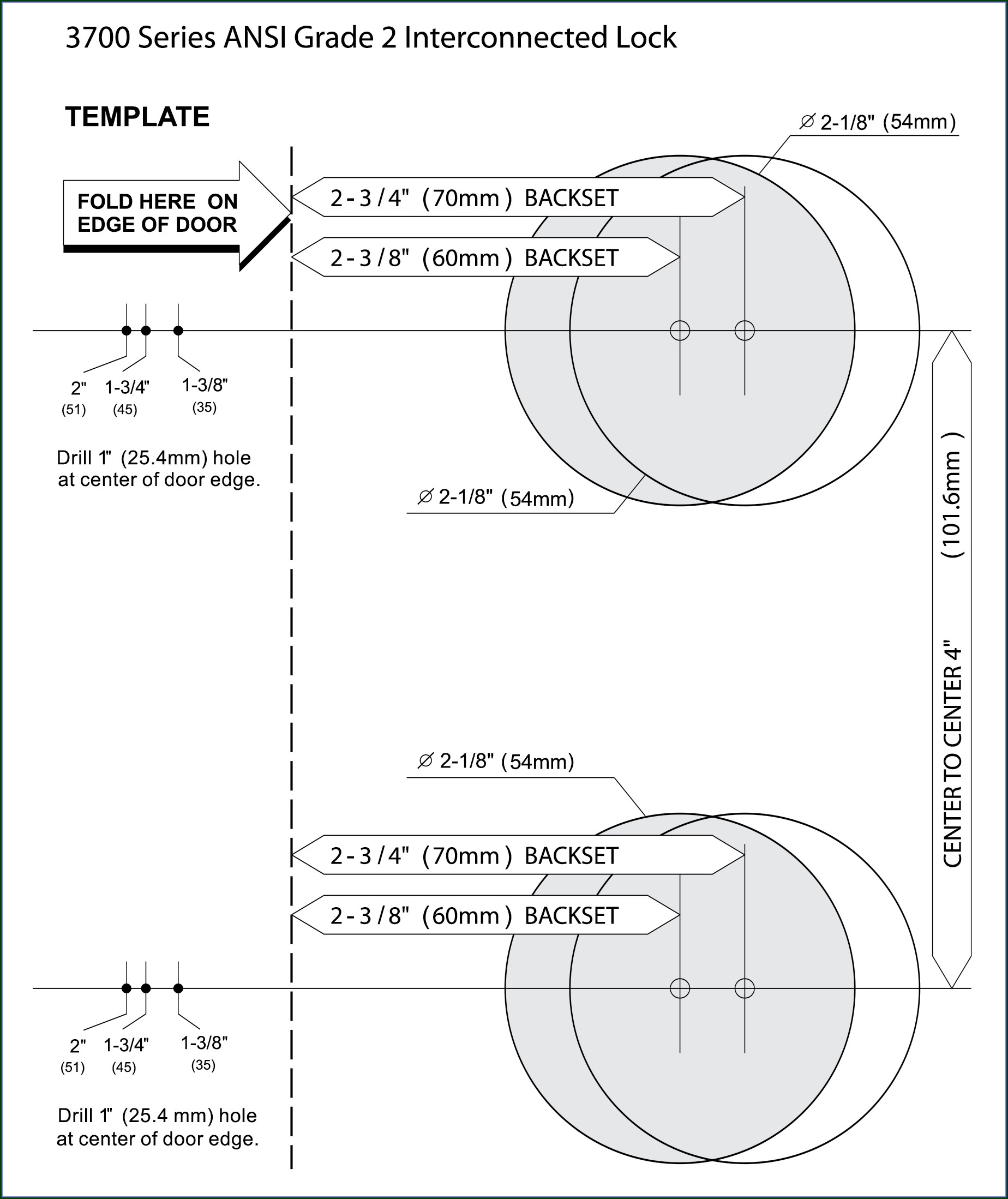 Door Knob Hole Template